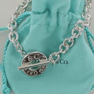 Tiffany & Co. Jewelry - Tiffany Sterling Silver 1837 Toggle Bracelet 8""